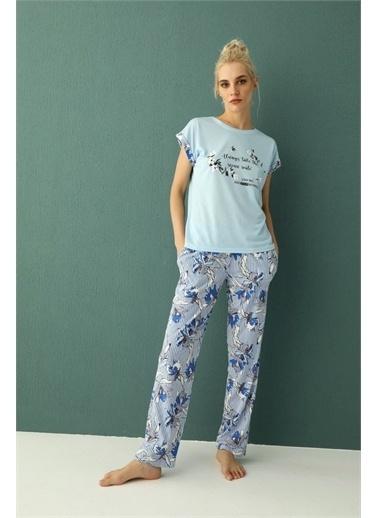 Nisanca Pijama Takım Mavi